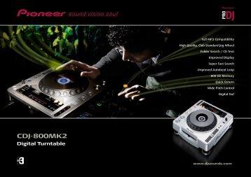 CDJ-800MK2 Digital Turntable - Pioneer