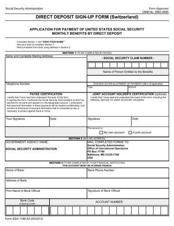 Standard form 1199a pdf download