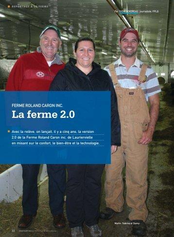 La ferme 2.0 - Fédération des producteurs de lait du Québec
