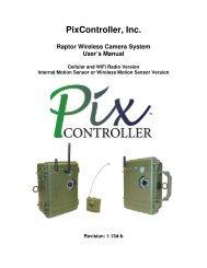 PixController, Inc. Raptor Wireless Camera System User's Manual