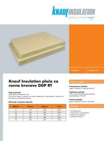 Knauf Insulation ploËa za ravne krovove DDP RT - Gradimo