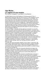 Ugo Mulas. Le ragioni di una mostra - Artelab