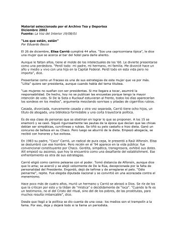 Fuente: La Voz del Interior 19/08/01 - Winisisonline.com.ar