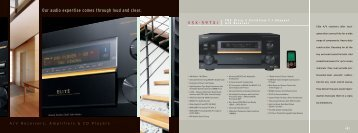 Our audio expertise comes through loud and ... - Pioneer Electronics