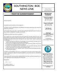 February/March 2011 - Southington Public Schools