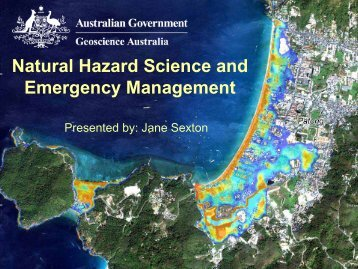 Natural Hazard Science and Emergency Management - Geoscience ...