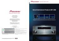 Home Entertainment Products 2007-2008 - Pioneer
