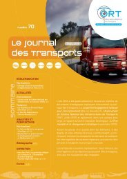 Le journal des transports n° 70 - ORT PACA