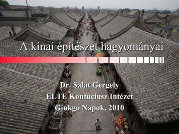A kínai építészet hagyományai - ELTE Konfuciusz Intézet
