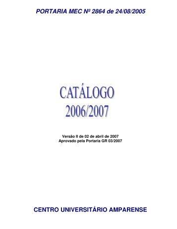 PORTARIA MEC Nº 2864 de 24/08/2005 CENTRO ... - Unifia.edu.br