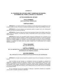 Ley de Hacienda del Estado - H. Congreso del Estado de Sonora