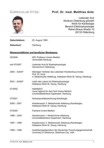 Prof. Dr. med. Matthias Antz - Pioneer Medical Devices AG
