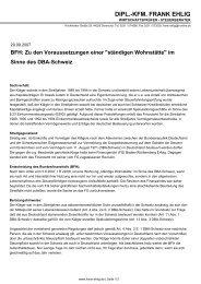 im Sinne des DBA-Schweiz - Dipl.-Kfm. Frank Ehlig