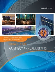 AAIM cover-inside25 - The American Academy of Insurance Medicine