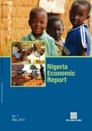 Nigeria Economic Report - World Bank