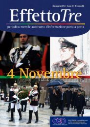 Effettotre n° 62 Novembre 2012 - Cesd-onlus.com