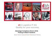 dbh Logistics IT AG Quality for your success. - KIS