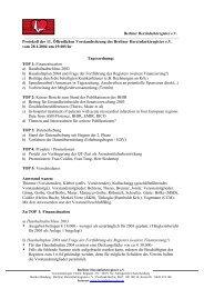 Protokoll der 11. Öffentlichen Vorstandssitzung des Berliner ...