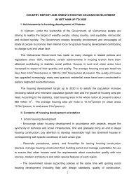 Orientation for Housing development in Vietnam up to 2020