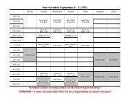 Pool Schedule September 5 - 11, 2011 - City of Humboldt