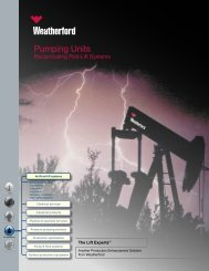 Pumping Units - Weatherford International