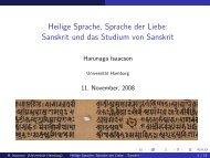 Heilige Sprache, Sprache der Liebe: Sanskrit und das ... - Podcampus