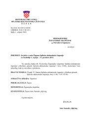2. Izvješće o radu Župana Splitsko-dalmatinske županije za ...