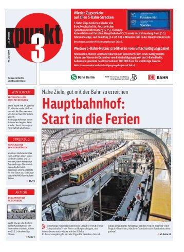 "22.10. ""Hauptbahnhof: Start in die Ferien - S-Bahn Berlin GmbH"