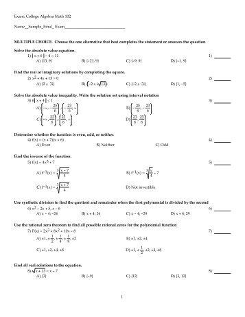 UM Math 116 On-Line Homework F18