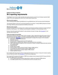 W-2 reporting requirements - Anthem Health Care Reform Portal
