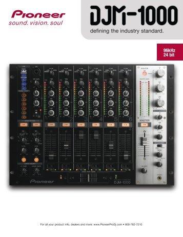 DJM-1000 Product Brochure - Pioneer Electronics