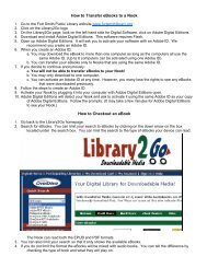 How to Transfer eBooks to a Nook - Fort Smith Public Library