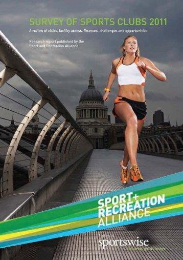 2011 Sports Club Survey - Sport and Recreation Alliance