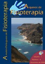 Arquivos de Fisioterapia Volume 1, Número 4 ... - AgFisicos