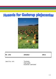 Nr. 142 oktober 2011 Læs bl.a. om: Tombola Høst gilde Rullende ...