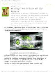 GEO.de - Neurologie: Wie der Bauch den Kopf bestimmt - ryke37