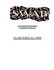 JAARVERSLAG 2008 - SWAB