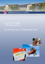 Seminarheft Sommerkolleg 2012 - Bundeswehrkrankenhaus Hamburg