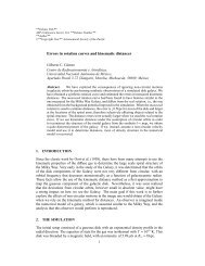 Errors in rotation curves and kinematic distances - Universidad ...