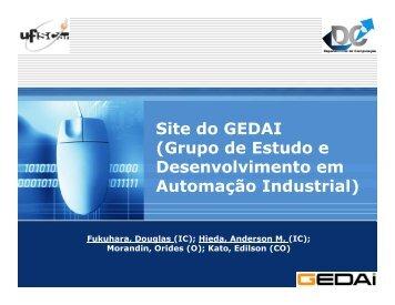 Site do GEDAI (Grupo de Estudo e Desenvolvimento em Automação ...