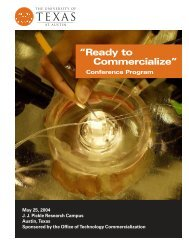 Conference Booklet - Office of Technology Commercialization - The ...