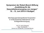 Prof. Dr. Heinz Rothgang - Robert Bosch Stiftung