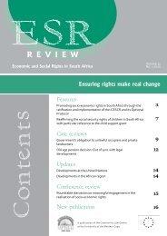 ESR Review Volume 11 No 1 - January 2010 - Community Law Centre