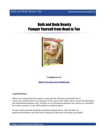 Bath and Body Beauty Pamper Yourself from ... - Acne Scars Remedy