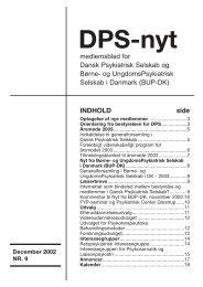 DPS Nyt nr. 9, december 2002 - Dansk Psykiatrisk Selskab