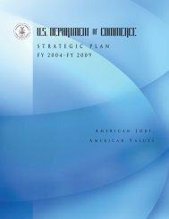 FY 2004-FY2009 Strategic Plan - Department of Commerce