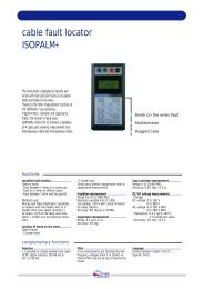 cable fault locator ISOPALM+ - Thermo-Electra