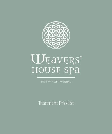 weavers' house spa price list