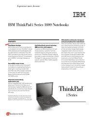 IBM ThinkPad i Series 1400 Notebooks
