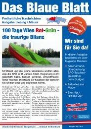 Wir sind für Sie da! 100 Tage Wien Rot-Grün - die traurige ... - Liesing
